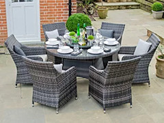 table and chairs - rattan